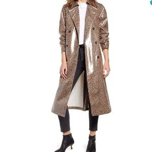 🔥CLEARANCE 🔥Leopard water resistant trench coat